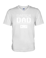 Classic 8 Bit Gamer Dad Vintage Video Game Gift Sh V-Neck T-Shirt thumbnail