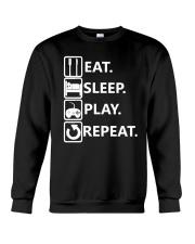 Eat Sleep Play Repeat Video Game T Shirt For Gamer Crewneck Sweatshirt thumbnail