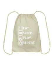 Eat Sleep Play Repeat Video Game T Shirt For Gamer Drawstring Bag thumbnail