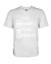 Eat Sleep Play Repeat Video Game T Shirt For Gamer V-Neck T-Shirt thumbnail