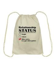 Relationship Status Video Games Drawstring Bag thumbnail