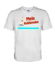 Mele Kalikimaka V-Neck T-Shirt thumbnail