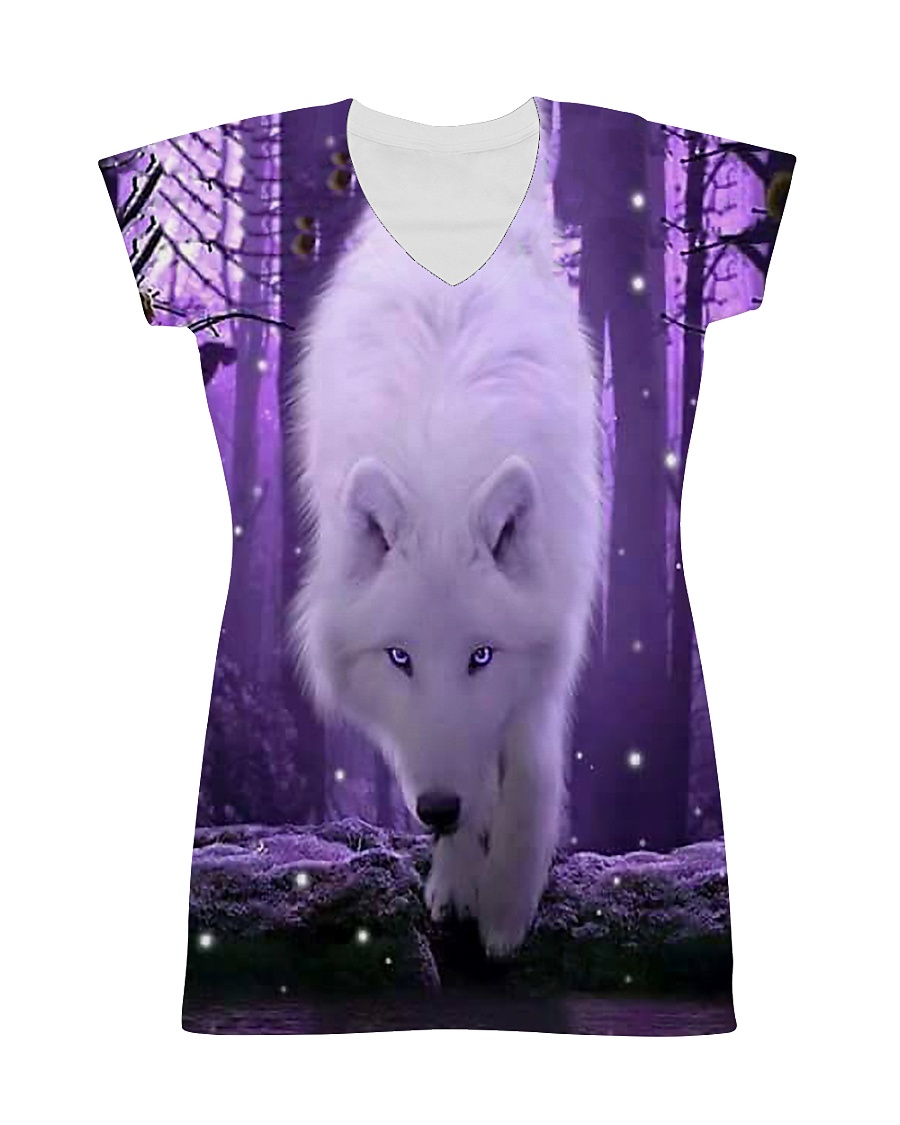I LOVE WOLF All-over Dress