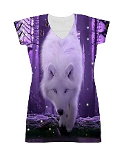 I LOVE WOLF All-over Dress front
