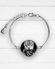 I LOVE OWL Metallic Circle Bracelet aos-bracelet-metal-front-lifestyle-2