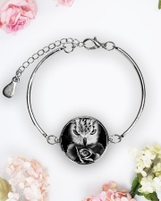 I LOVE OWL Metallic Circle Bracelet aos-bracelet-metal-front-lifestyle-6