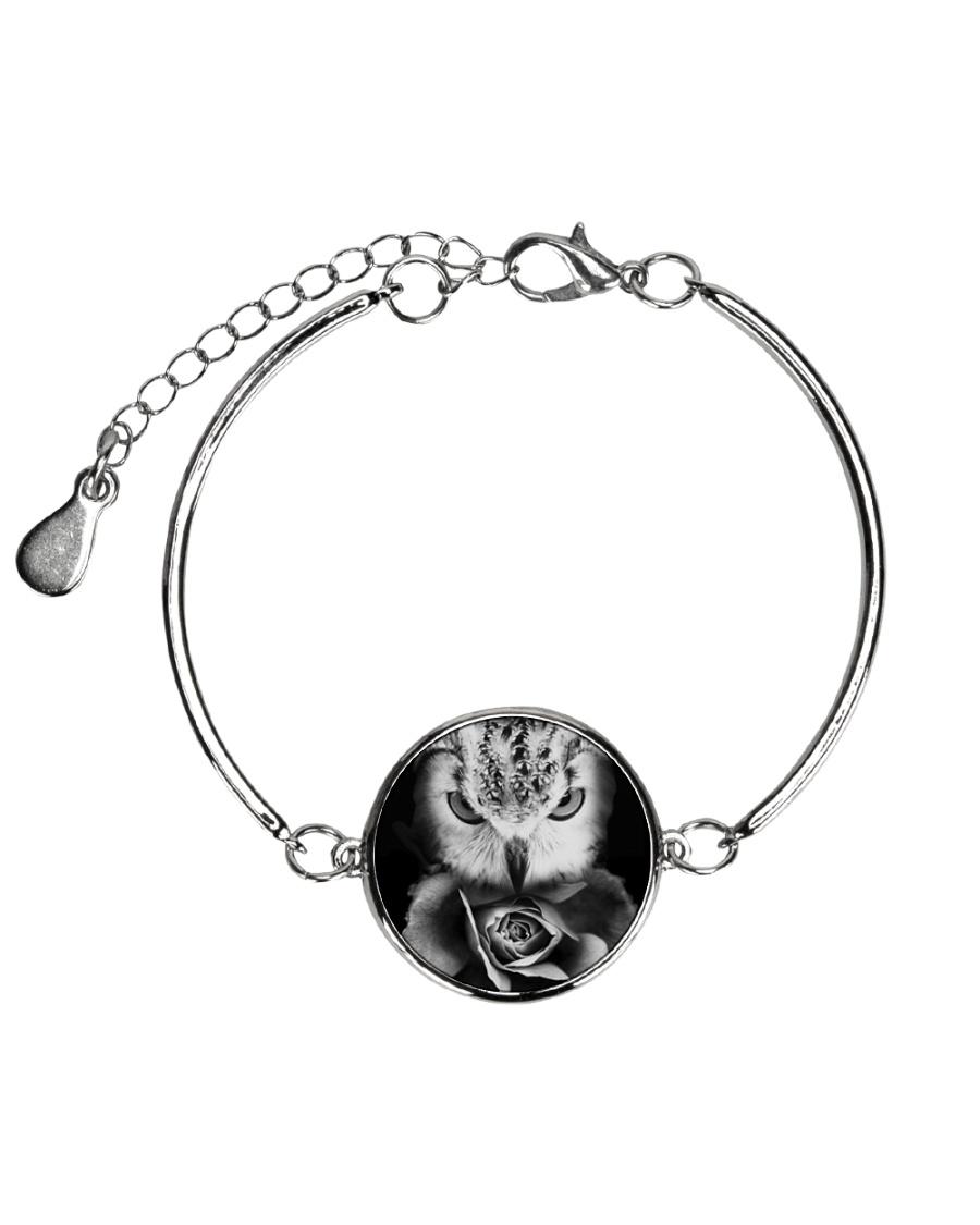I LOVE OWL Metallic Circle Bracelet