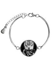 I LOVE OWL Metallic Circle Bracelet front