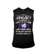 JANUARY WOMAN BEST OR WORST CHOOSE WISELY Sleeveless Tee front