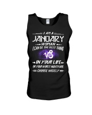 JANUARY WOMAN BEST OR WORST CHOOSE WISELY Unisex Tank thumbnail