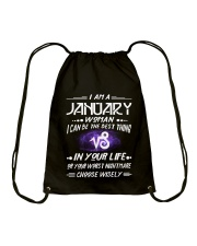 JANUARY WOMAN BEST OR WORST CHOOSE WISELY Drawstring Bag thumbnail