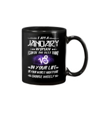 JANUARY WOMAN BEST OR WORST CHOOSE WISELY Mug thumbnail