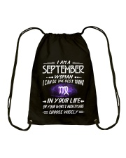 SEPTEMBER WOMAN BEST OR WORST CHOOSE WISELY Drawstring Bag thumbnail