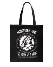 NOVEMBER GIRL THE SOUL OF A WITCH Tote Bag front