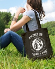 NOVEMBER GIRL THE SOUL OF A WITCH Tote Bag lifestyle-totebag-front-6