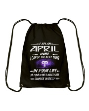 APRIL GIRL BEST OR WORST CHOOSE WISELY Drawstring Bag thumbnail