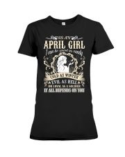 AS AN APRIL GIRL I CAN BE SWEET AS CANDY  Premium Fit Ladies Tee front