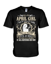 AS AN APRIL GIRL I CAN BE SWEET AS CANDY  V-Neck T-Shirt thumbnail