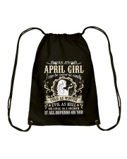 AS AN APRIL GIRL I CAN BE SWEET AS CANDY  Drawstring Bag thumbnail