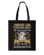 JANUARY GIRL T-SHIRT WOMENS BIRTHDAY GIFTS Tote Bag thumbnail