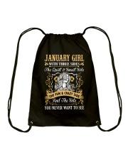 JANUARY GIRL T-SHIRT WOMENS BIRTHDAY GIFTS Drawstring Bag thumbnail