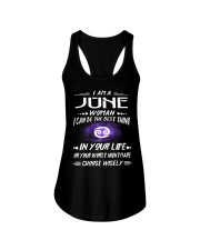 JUNE WOMAN BEST OR WORST CHOOSE WISELY Ladies Flowy Tank thumbnail