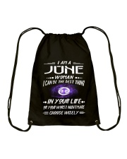 JUNE WOMAN BEST OR WORST CHOOSE WISELY Drawstring Bag thumbnail