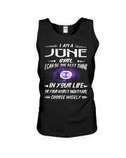 JUNE GIRL BEST OR WORST CHOOSE WISELY Unisex Tank thumbnail