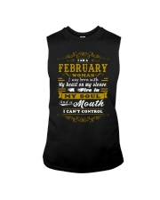 IM A FEBRUARY WOMAN BORN WITH HEART ON SLEEVE Sleeveless Tee thumbnail