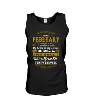 IM A FEBRUARY WOMAN BORN WITH HEART ON SLEEVE Unisex Tank thumbnail