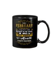 IM A FEBRUARY WOMAN BORN WITH HEART ON SLEEVE Mug thumbnail
