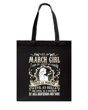 AS A MARCH GIRL I CAN BE SWEET AS CANDY  Tote Bag thumbnail