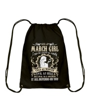 AS A MARCH GIRL I CAN BE SWEET AS CANDY  Drawstring Bag thumbnail