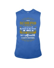 IM A SCORPIO WOMAN BORN WITH HEART ON SLEEVE Sleeveless Tee front