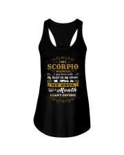 IM A SCORPIO WOMAN BORN WITH HEART ON SLEEVE Ladies Flowy Tank thumbnail