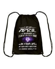APRIL WOMAN BEST OR WORST CHOOSE WISELY Drawstring Bag thumbnail