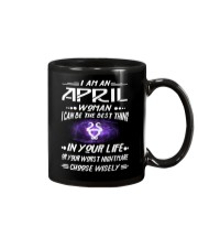 APRIL WOMAN BEST OR WORST CHOOSE WISELY Mug thumbnail