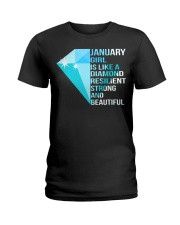 JANUARY GIRL IS LIKE A DIAMOND Ladies T-Shirt front