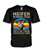 HEIFER RUNNING TEAM V-Neck T-Shirt thumbnail