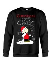 Christmas begin with Christ Crewneck Sweatshirt thumbnail