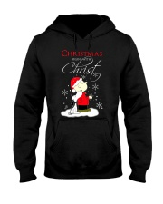 Christmas begin with Christ Hooded Sweatshirt thumbnail