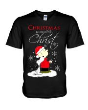 Christmas begin with Christ V-Neck T-Shirt thumbnail