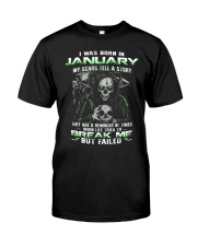 I WAS BORN IN JANUARY Premium Fit Mens Tee front