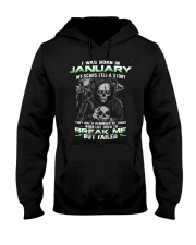 I WAS BORN IN JANUARY Hooded Sweatshirt thumbnail