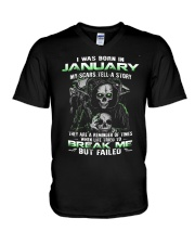 I WAS BORN IN JANUARY V-Neck T-Shirt tile