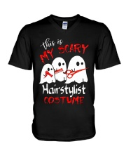My scary Hairstylist costume V-Neck T-Shirt thumbnail