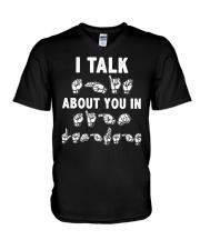 Funny ASL V-Neck T-Shirt thumbnail