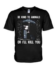 JW Be Kind To Animal Or I'll Kill You V-Neck T-Shirt thumbnail
