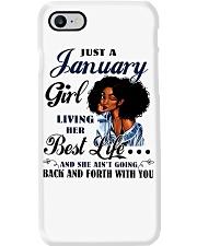 January Girl Living Her Best Life Phone Case thumbnail