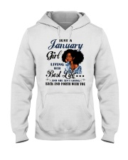 January Girl Living Her Best Life Hooded Sweatshirt thumbnail